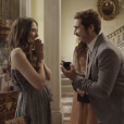 """Em """"O Tempo Não Para"""", Samuca (Nicolas Prattes) e Marocas (Juliana Paiva) finalmente se casaram"""