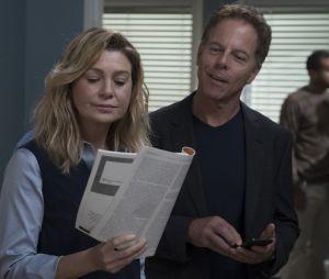 "Showrunner de ""Grey's Anatomy"" descarta possibilidade de romance entre Meredith (Ellen Pompeo) e Dr. Koracick (Greg Germann)"