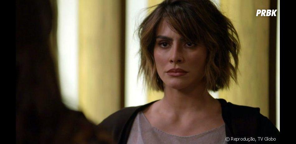 """Em """"O Tempo Não Para"""": Betina (Cleo) arma golpe e Marocas (Juliana Paiva) descobre"""