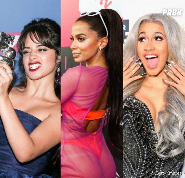 Camila Cabello, Anitta e Cardi B lideram o TOP 3 das artistas femininas mais premiadas em 2018