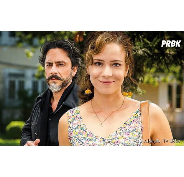 """Em """"Império"""", Cristina (Leandra Leal) aceita ser adotada por José Alfredo (Alexandre Nero)"""
