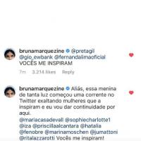 Bruna Marquezine voltou pro Instagram enaltecendo a Maisa e falando sobre feminismo no Dia da Mulher
