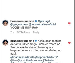 Bruna Marquezine enaltece Maisa no Dia da Mulher