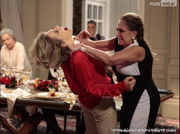 """Pilar (Susana Vieira) vai partir pra cima de Edith (Bárbara Paz) em """"Amor à Vida""""!"""