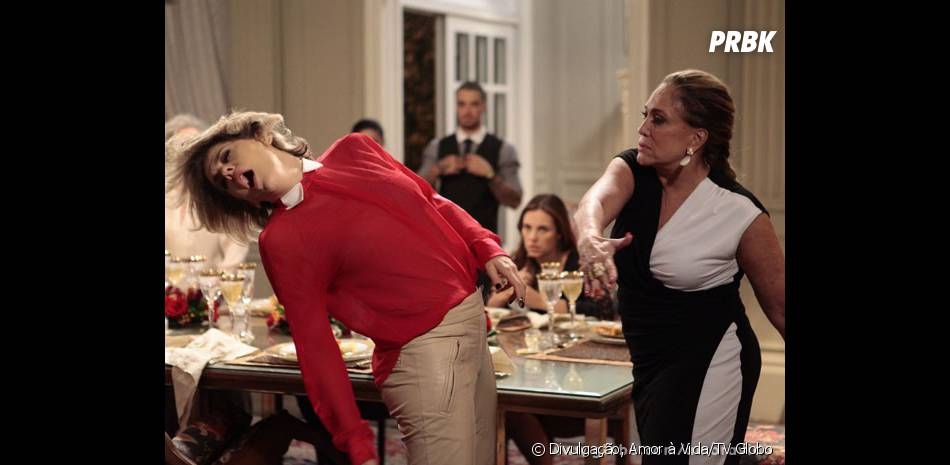 """Edith (Bárbara Paz) vai ganhar uns bons tapas de Pilar (Susana Vieira) em """"Amor à Vida""""!"""