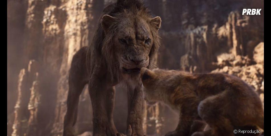"""Filme """"O Rei Leão"""": Scar e as hienas ameaçam Simba em novo trailer"""