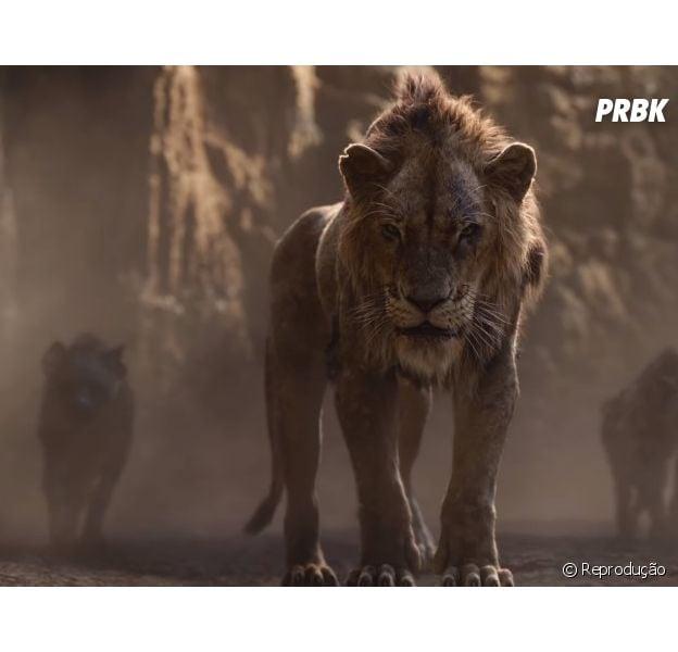 """Filme """"O Rei Leão"""": Scar é destaque em novo trailer do filme!"""