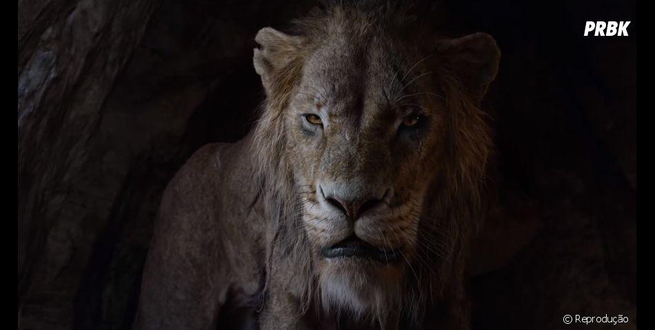 """Novo trailer de """"O Rei Leão"""" mostra Scar expulsando Simba do reino"""