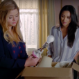 "Em ""Pretty Little Liars: The Perfectionists"", Alison (Sasha Pieterse) recusava chamadas de Emily (Shay Mitchell)"