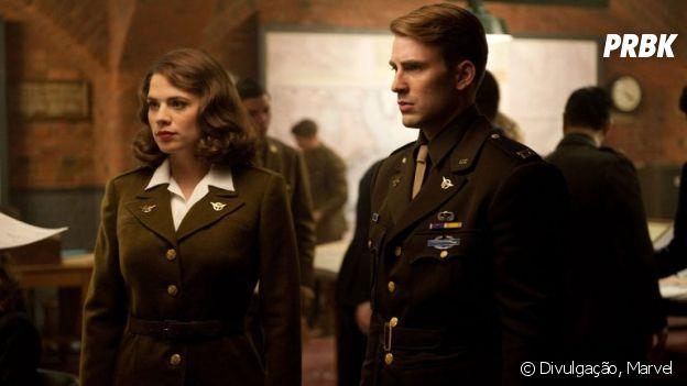 """Em """"Vingadores: Ultimato"""", Steve Rogers, o Capitão América, consegue envelhecer ao lado da Agent Carter(Hayley Atwell)"""
