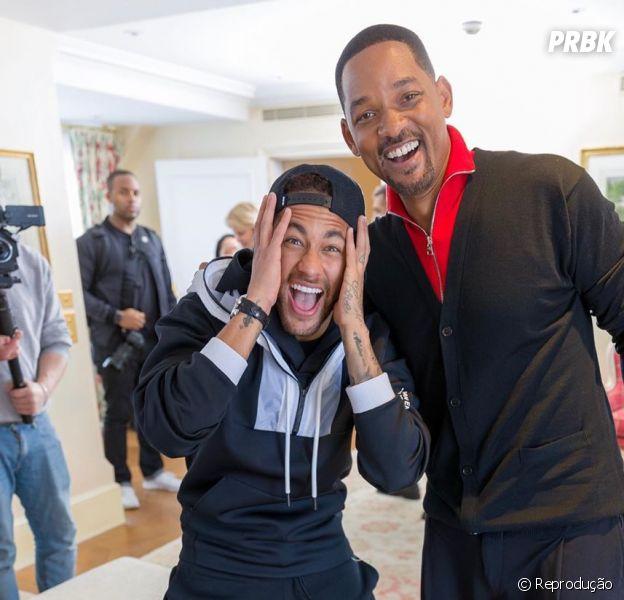 Neymar conhece Will Smith e tem melhor reação possível
