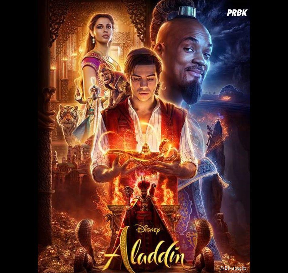 """""""Aladdin"""": com Will Smith, Naomi Scott e Mena Massoud, é o novo live-action da Disney"""