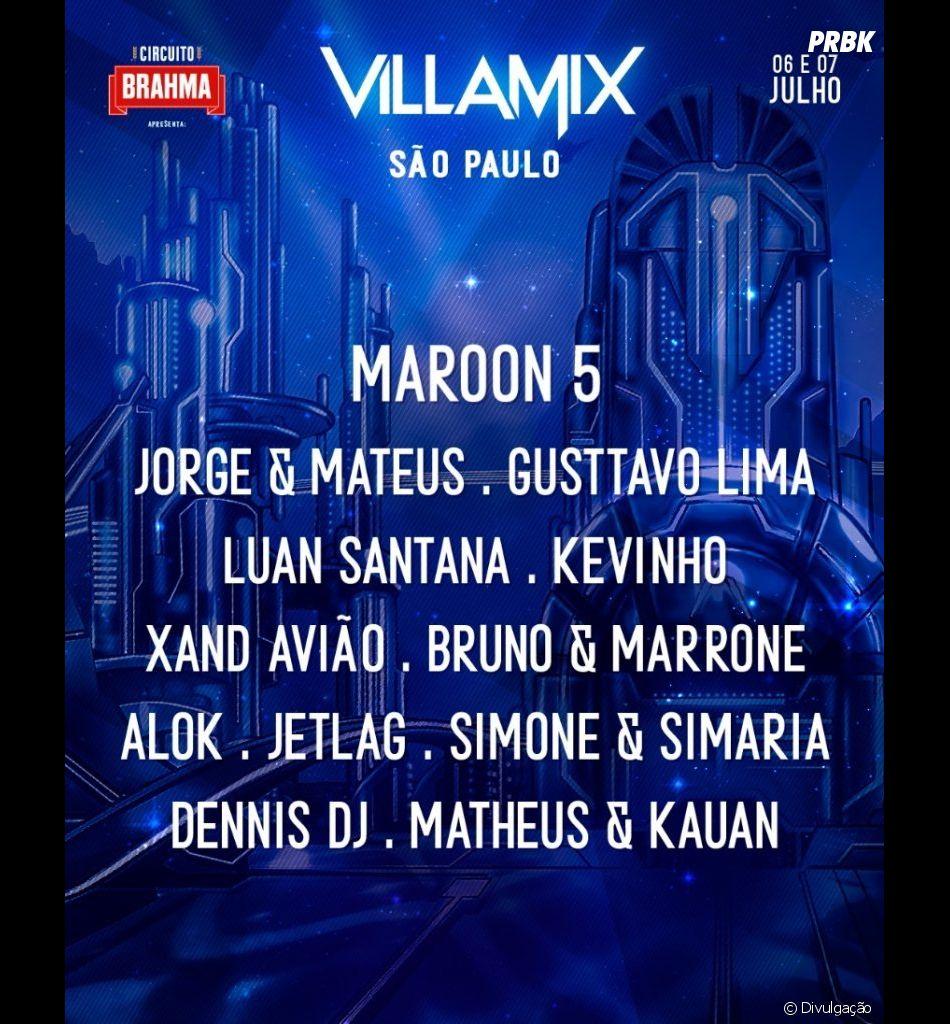 Após cancelamento do Maroon 5, Villamix é adiado