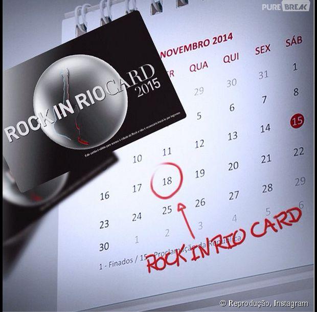 As vendas dos Rock in Rio Cards começam nesta terça (18)!