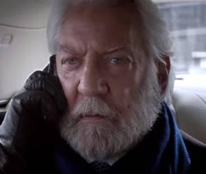 """Até o Presidente Snow (Donald Sutherland) de """"Jogos Vorazes"""" quer um Rock in Rio Card!"""