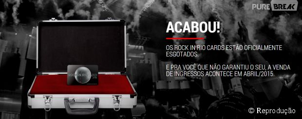 Os ingressos da pré-venda do Rock in Rio 2015 estão oficialmente esgotados
