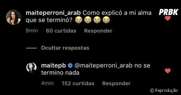 """Reencontro do RBD: Maite Perroni diz que """"ainda não acabou"""" em comentário de fã"""