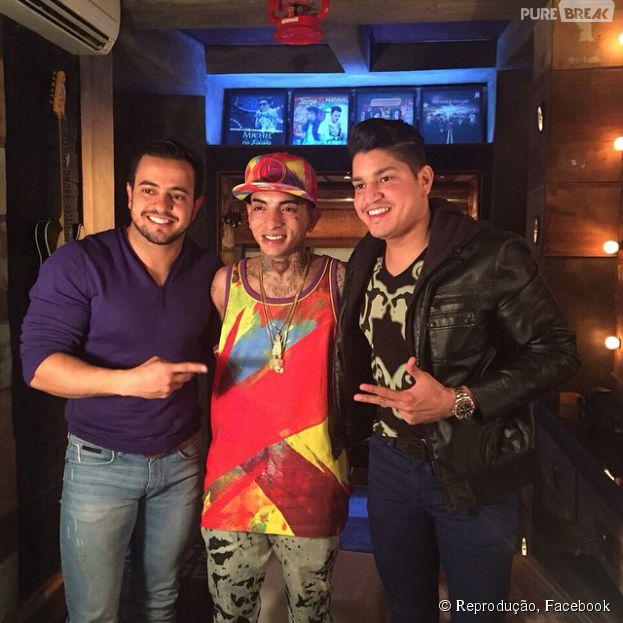 """Mc Guimê e o convidado especial de """"Henrique e Diego"""" na música """"Suíte 14""""."""