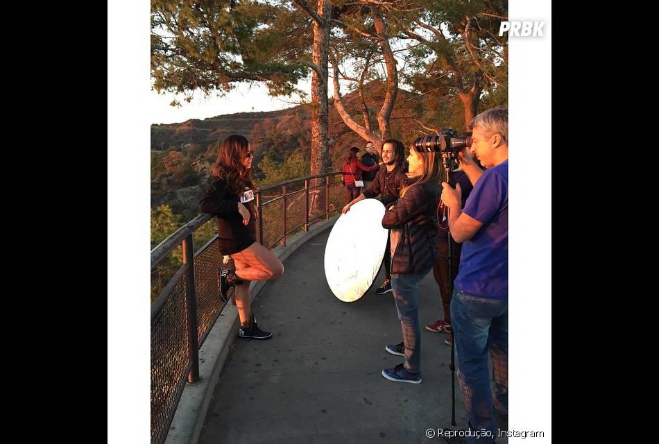 Anitta aproveitou a passagem pela cidade para gravar para a MTV americana