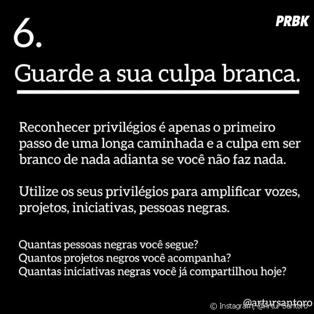 Como ser antirracista: use o privilégio branco a favor da causa