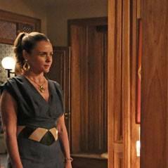 """Novela """"Boogie Oogie"""": Carlota reaparece e invade a festa de noivado de Sandra e Rafael!"""