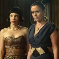 """Na novela """"Boogie Oogie"""": Carlota desmascara Odete e revela que ela é sua ex-sogra!"""