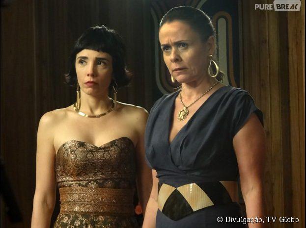 "Na novela ""Boogie Oogie"", da Globo, Carlota (Giulia Gam) vai desmascarar Odete (Joana Fomm)"