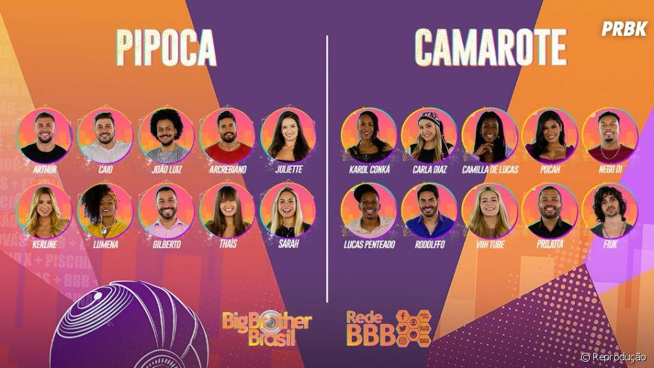 """""""BBB21"""": e aí, você é mais Pipoca ou Camarote?"""