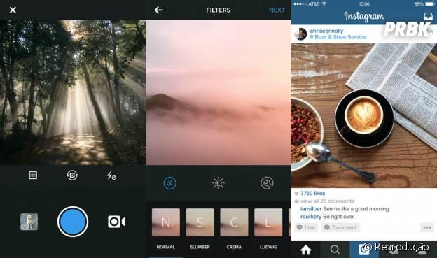 O Instagram lançou nesta terça-feira (16) atualização do aplicativo com os filtros: Slumber, Crema, Ludwig, Perpetua e Aden.