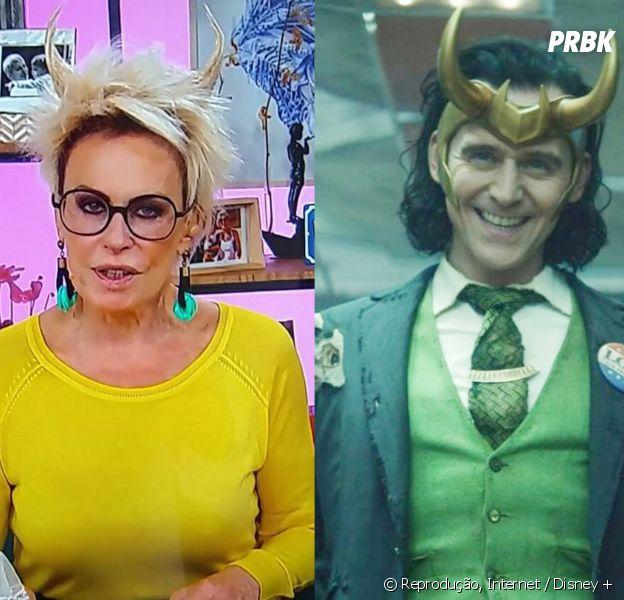 """Ana Maria Braga usa penteado com chifres no """"Mais Você"""" e web aponta referência com Loki"""