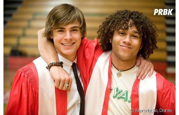 """Chad (Corbin Bleu) é só o """"amigo de Troy"""" (Zac Efron) em """"High School Musical"""""""