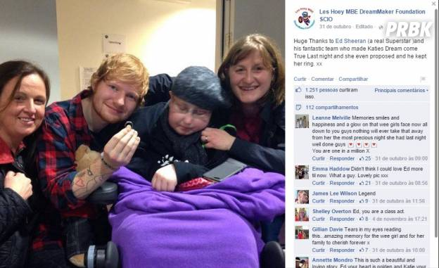 "Ed Sheeran aceita se ""casar"" com fã"