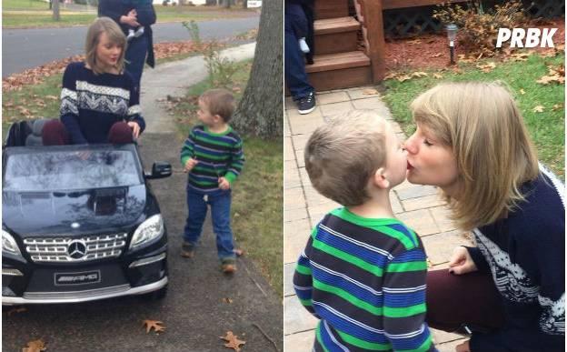 Taylor Swift dá muitos brinquedos para filho de fã