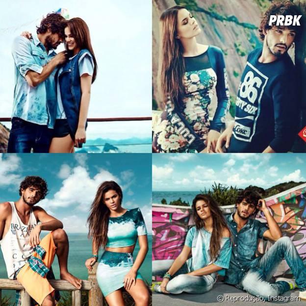 Bruna Marquezine e Marlon Teixeira se conheceram durante um ensaio fotográfico para uma marca de roupas