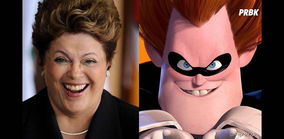 """Dilma é super parecida com o Síndrome, de """"Os Incríveis""""!"""
