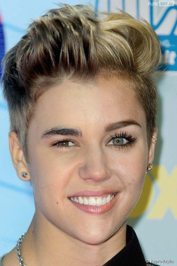 Miley Cyrus faz montagem com Justin Bieber de cueca e posta no Instagram