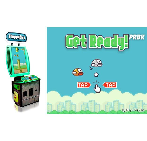 """""""Flappy Bird"""" vira uma máquina arcade de um botão só"""