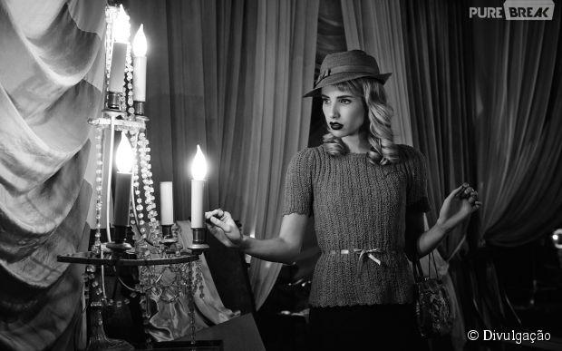 "Maggie (Emma Roberts) foi a vítima da vez em ""American Horror Story: Freakshow"""