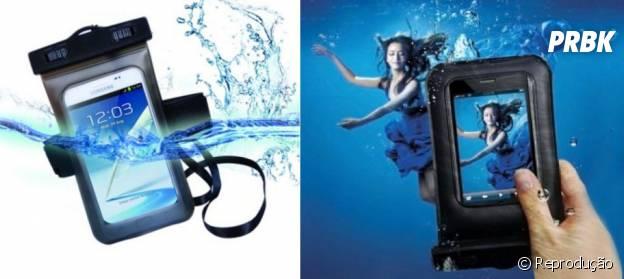 Para usar o smartphone até na piscina, há cases que protegem da água
