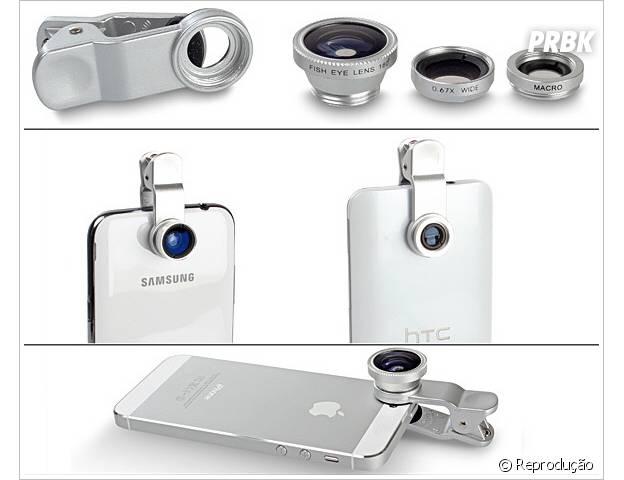 As lentes especiais fazem com que as fotos pelo smartphone fiquem mais profissionais