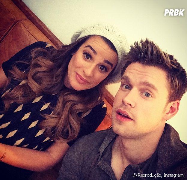 """Lea Michele e Chord Overstreet são Rachel e Sam em """"Glee"""""""