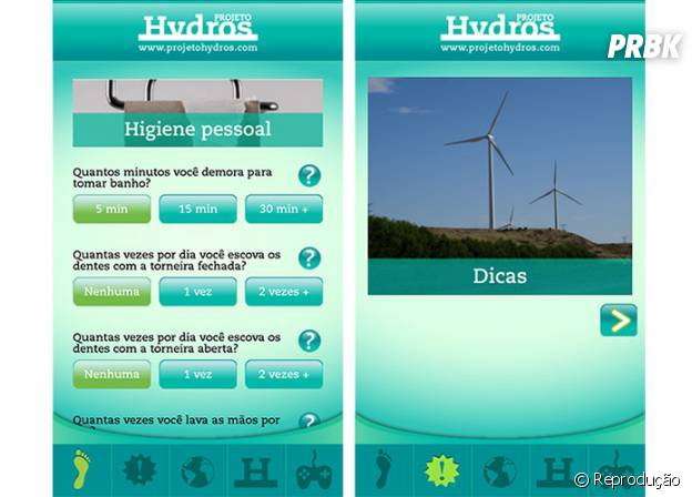 """Aplicativos para economizar água: """"Pegada Hydros"""""""