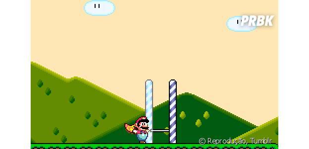Pular obstáculos como Super Mario