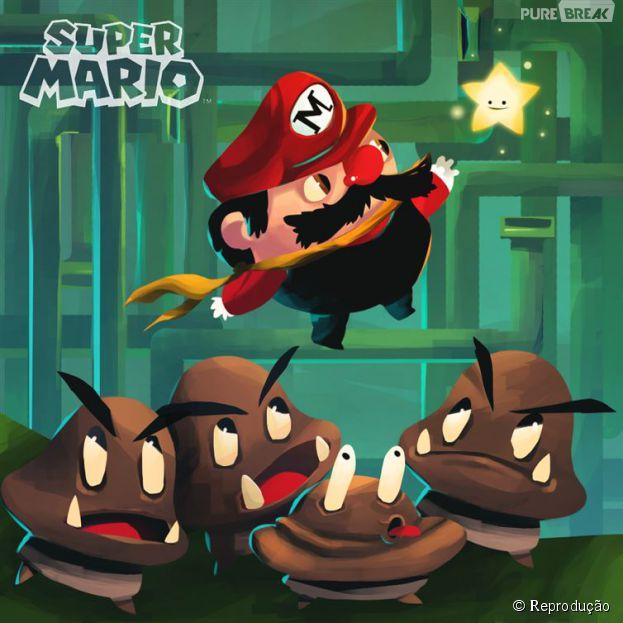 """""""Super Mario Bros""""feito por Boli e postado no Facebook"""