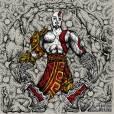 """""""God of War"""" feito por """"Le Dave Design"""" e publicado no Facenook"""