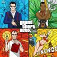 """""""Grand Theft Auto V"""" feito por José Detangs e postado no Behance"""