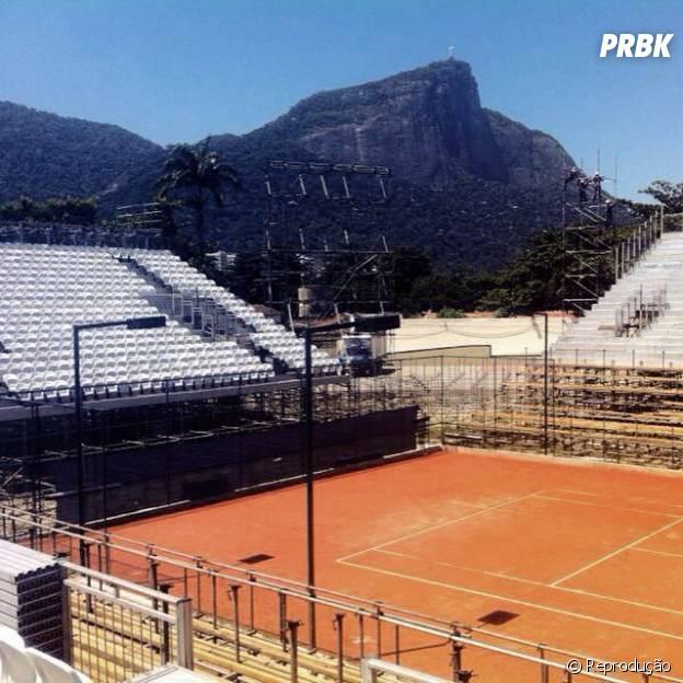 Quadra onde acontecerá o Rio Open 2015, no Rio de Janeiro