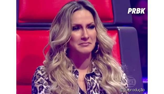 "Claudia Leite emocionada no programa ""The Voice Brasil"""