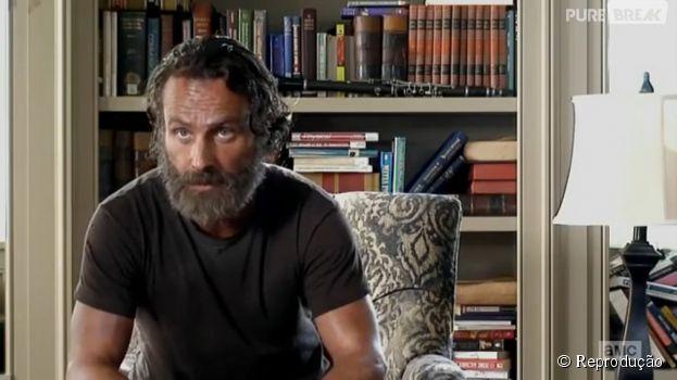 "Em ""The Walking Dead"", Rick (Andrew Lincoln) resolveu defender seu povo"