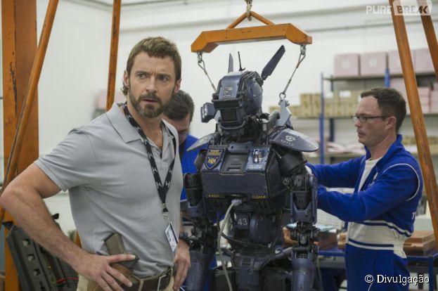 """A ficção científica """"Chappie"""" conta com o astro Hugh Jackman (""""X-Men"""") como protagonista"""